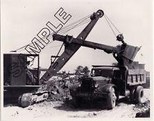 C J MANEY, MA - ca.1940 AUTOCAR Dump Truck & BUCYRUS-ERIE Shovel 8x10 B&W Photo