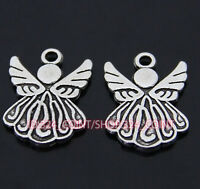 P036 100pcs Tibetan Silver Charm Little Angel Jewelry Accessories Bead Wholesale