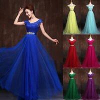 New Evening Prom Ball Gown Party Formal Wedding Bridesmaid Dress Stock Size 6-18