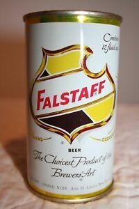 Falstaff Beer 12 oz. 1960 flat top beer can from Omaha, Nebraska