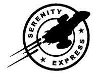 "White6/"" x 3.3/"" Serenity Vinyl DecalColor Firefly"