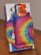 2 Smoo-Z Smoker's Coozie Cigarette Case & Lighter Holder RAINBOW  design