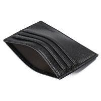 New Men's Leather Money Clip Slim Wallet ID Credit Pock Holder jjvv Front H6I5