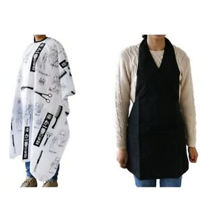 2PCS Hair Cutting Salon Stylist Barber Apron Hairdressing Cloth Cape Gown
