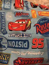 DISNEY Cars Lightning McQueen Full Size Kids Sheet set  - Blue and Red
