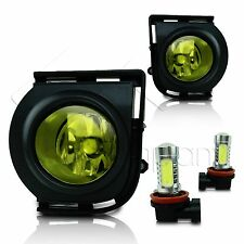 2008-2010 Scion XB Fog Lights w/Wiring Kit & COB LED Bulbs - Yellow