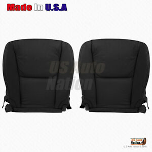Driver-Passenger Bottom Leather Seat Cover For 2006 2007 2008 Lexus GS350 Black