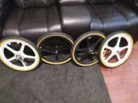 "Old Bmx Original 80s Cheng Shin 20 X 1.75"" Freestyle Bike Tires Gt Dyno Mongoose"