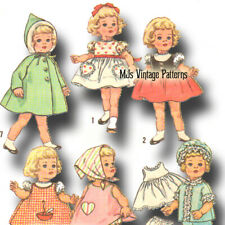 """Vtg 60s Pattern 20"""" Chatty Cathy Doll Clothes ~ Dress, Coat, Blouse, Panties"""