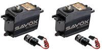 2 pack Savox SC-0252MG Metal Gear Digital Servo + 2 Glitch Busters JR FUTABA hpi