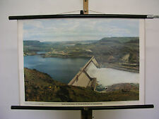 Sublime Tableau Grand Coulee-Damm Roosevelt-Stausee Columbia 75x51 Vintage ~1958