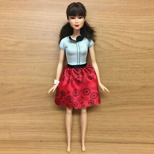 """Barbie Fashionistas #19 Ruby Red Floral Asian Doll 11"""""""