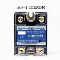 DD220D40 SSR 40A 3-32VDC Input to 5-220VDC Output Solid State Relay DC to DC