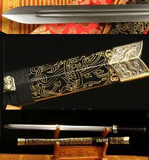 42' 1060 CARBON STEEL BLADE FULL TANG SAYA HAS DRAGON CHINESE HAN 汉剑 SWORD