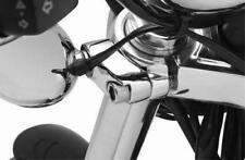 Chrome Short Turn Signal Mounts for 39mm or 49mm Harley Forks