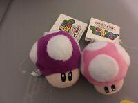 Super Mario Bros Plush Purple Mushroom Keychain New Ebay