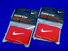 Nip Two (2) Pair Nike Guard Stay Red Stretch Bands to Secure Soccer Shinguards