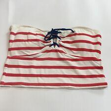 Vtg Ralph Lauren Patriotic Bandeau Tube Swim Top M Red White Blue Striped