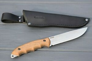 BPS Knives HK5 Hunting Full-Tang Fixed Blade Knife Carbon Steel Leather Sheath