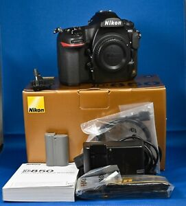 Nikon D850 Digital Camera Body - Unmarked condition, boxed. 1373 shutter counts.