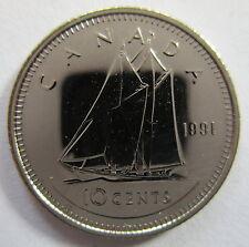 1991 CANADA 10 CENTS SPECIMEN DIME COIN
