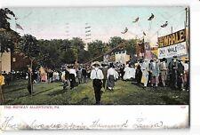 St2278: The Midway Allentown Pa, postcard 1907Pm