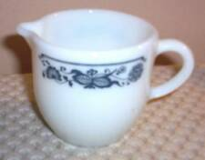 Vintage Pyrex Milk Glass Creamer by Corning ~Onion Leaf Design ~ Made in USA