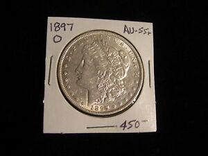 1897 O Morgan Silver Dollar Antique Vintage Coin AU+