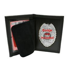 Perfect Fit Concealed Carry Badge Case ID Card Holder Document Carrier CWP CCP