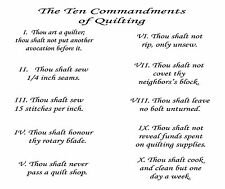 The 10 Commandments of Quilting Applique Printed Fabric For Quilting