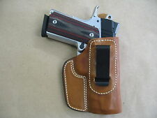 Colt Defender 1911 Compact IWB Leather In Waistband Concealed Carry Holster TAN