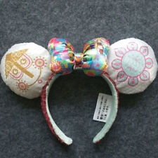 New Disney Parks it's a small world Clock Minnie Mouse Sequin Ears Headband Gift