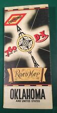 1936 Diamond 760 Motor Oil Oklahoma Road Map Gas