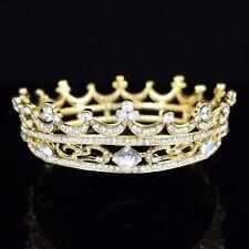 Queen Austrian Crystal Rhinestone Full Hair Crown Tiara Prom Bridal Wedding T43g