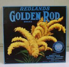 REDLANDS Golden Rod Silver Seal Mutual Orange ©1994 Vintage Metal Sign LAST ONE!