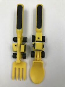 Constructive Eating Fork And Spoon Two Utensil Set Made In U.S.A.