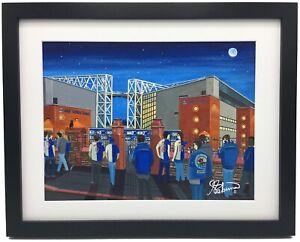 Blackburn Rovers FC Ewood Park Stadium High Quality Framed Art Print. Approx A4.