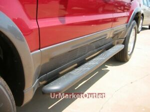 """Black Plastic Mold Factory 4"""" Wide Step Running Board For 01-07 Mazda Tribute"""