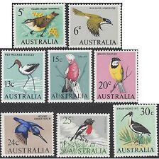 Australia 1966 BIRDS 5c - 30c  (8) UNHINGED MINT SG 386-7,392-7