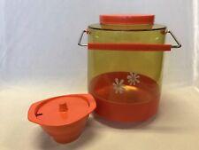 Vintage Retro Nally Orange Biscuit Barrel & Bessemer Nylex Sugar Bowl