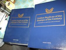Lot of 2 Golden Replicas of the Stamps of the Century, 42 Pages, 126 Stamps