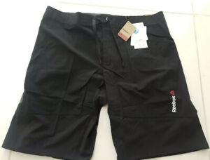 Reebok Mens Speedwick Training Shorts Black Stretch Cordura Fabric Size L W36