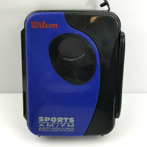 Wilson AM/FM Cassette Player WG85WB Sports Engineered Blue Tested Works