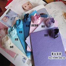 "Candy Color Sheets Origami Crane Folding Rose Paper 15cm (5.9"") Square Bulk 40ps"