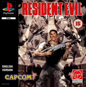 - Resident Evil 1 PS1 Front Back PAL Replacement Box Art Case Insert Cover Only