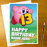 KIRBY Personalised Birthday Card - personalized gamer nintendo greeting smash