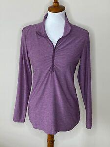 Eddie Bauer Purple Medium Long Sleeve 1/4 Zip Jacket Women's Athletic