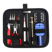 16Pcs Watch Repair Tool Kit Watchmaker Back Case Opener Link Spring Bar Remover