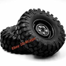 4pcs 1/10 RC 108mm Tires Tyres & 1.9in Wheels For RC4WD Axial Rock Crawler Truck