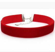 Choker Necklace Gothic Velvet Ribbon Women's Collar Set Mix Color Choker